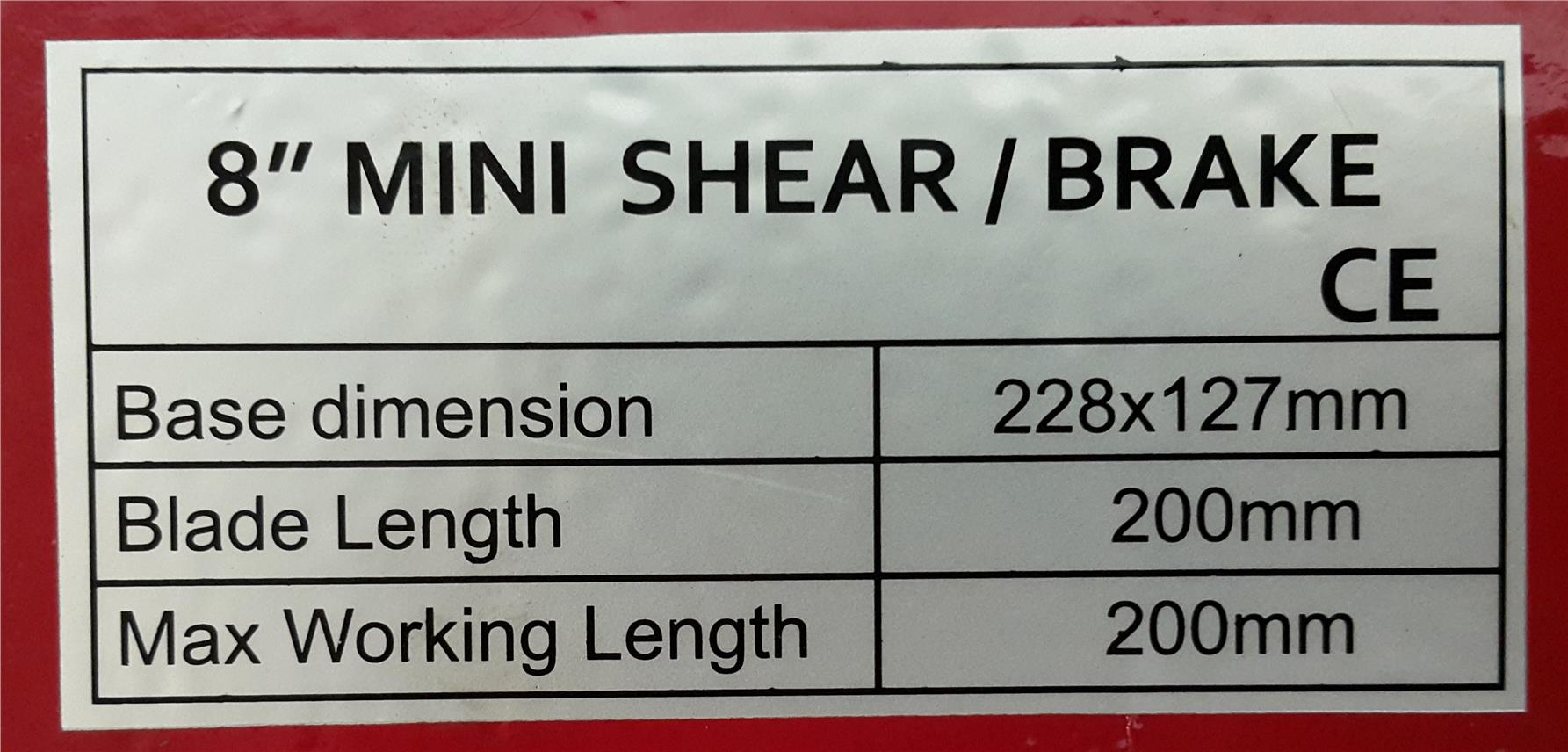Miniature Shear Brake ID119491