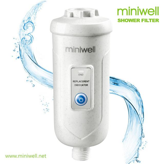 miniwell chlorine shower filter triple filtration system back wash