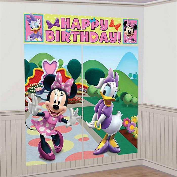 Minnie & Daisy Scene Setter Happy Birthday 6ft FREE GLUE DOTS