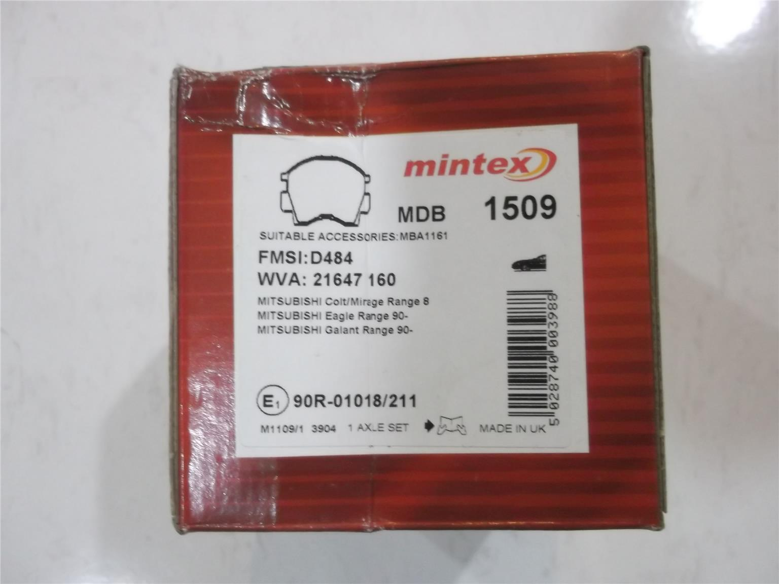 MINTEX UK FRONT BRAKE PAD for WIRA (end 4/10/2018 10:56 AM)