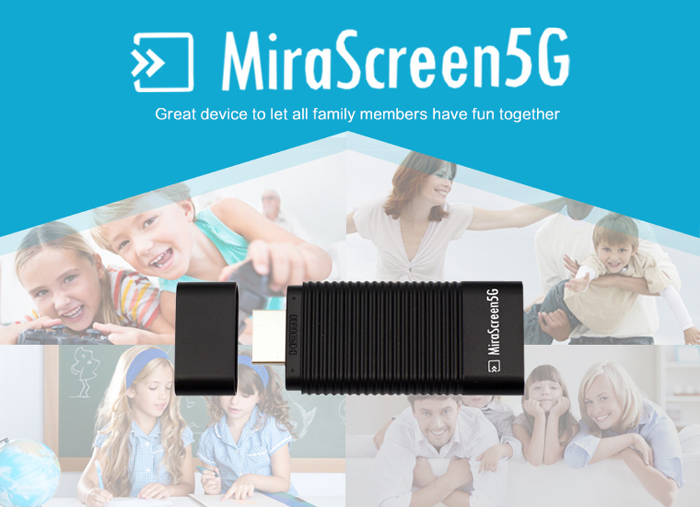 MiraScreen 5G Wireless Display TV Dongle Miracast Airplay DLNA HDMI Re..
