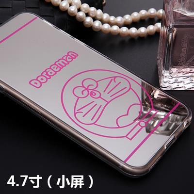 Mirror Case iPhone 6 4.7-in Cover Pink Doraemon Casing