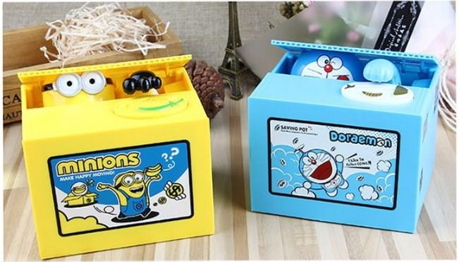 MISCHIEF Music PANDA Hello Kitty MINION DORAEMON STEAL COIN SAVING BOX