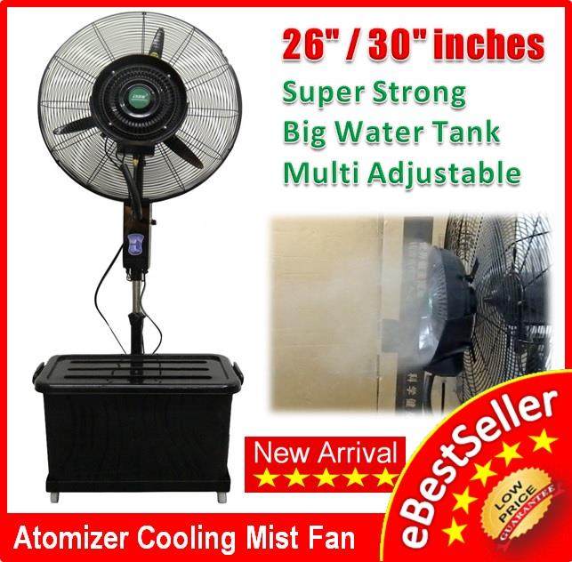 Industrial Water Cooling Fans : Mist fan inches atomizer wa end  am