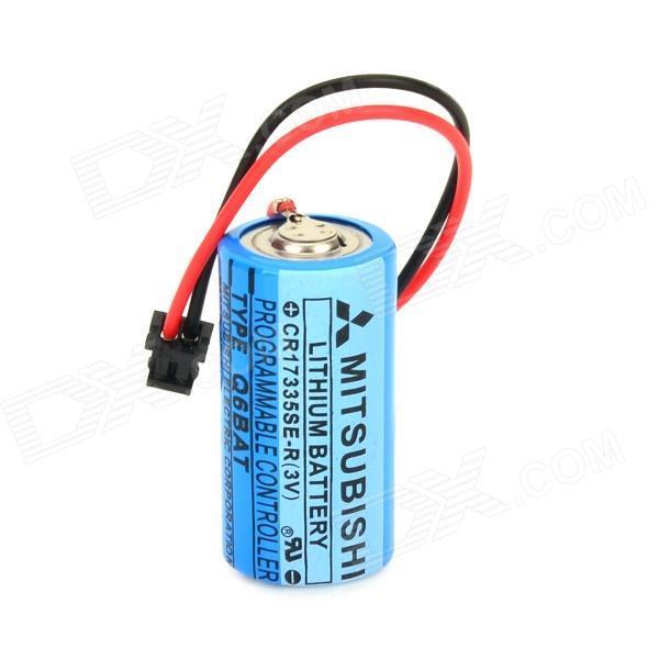 MITSUBISHI CR17335SE -R / Q6BAT 3V Li-ion PLC Battery w/ Plug