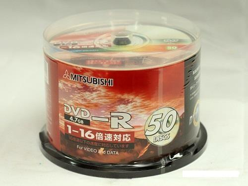 Mitsubishi DVD-R Media 16x 4.7GB 50pcs Pack for Video and DATA