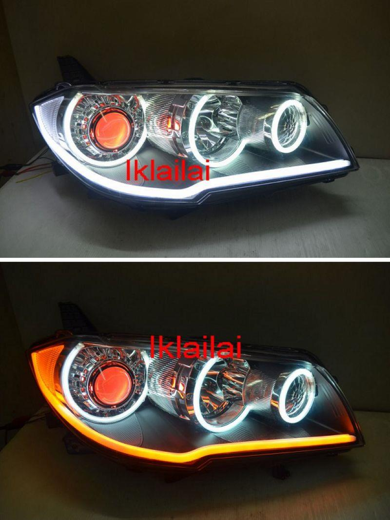 Mitsubishi Fortis Lancer 08-13 CCFL Ring+Angel Eye Projector Head Lamp