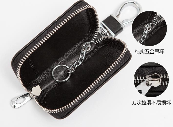 Mitsubishi Key Pouch / Key Chain / Key Holder Genuine Leather (Type D)