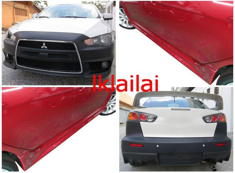 Mitsubishi Lancer `08 EVO X Style Front + Rear Bumper + Side Skirt PP