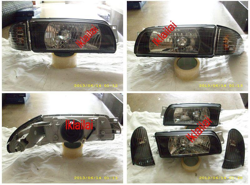 Mitsubishi Lancer `93-94 HEAD LAMP CRYSTAL GLASS LENS+CORNER LAMP