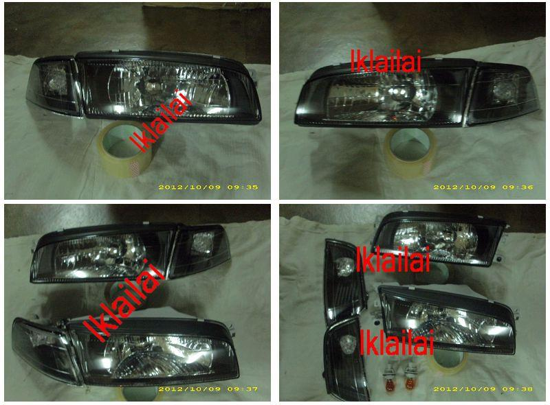 Mitsubishi Lancer `95-00 CK2 HEAD LAMP CRYSTAL GLASS LENS+CORNER LAMP