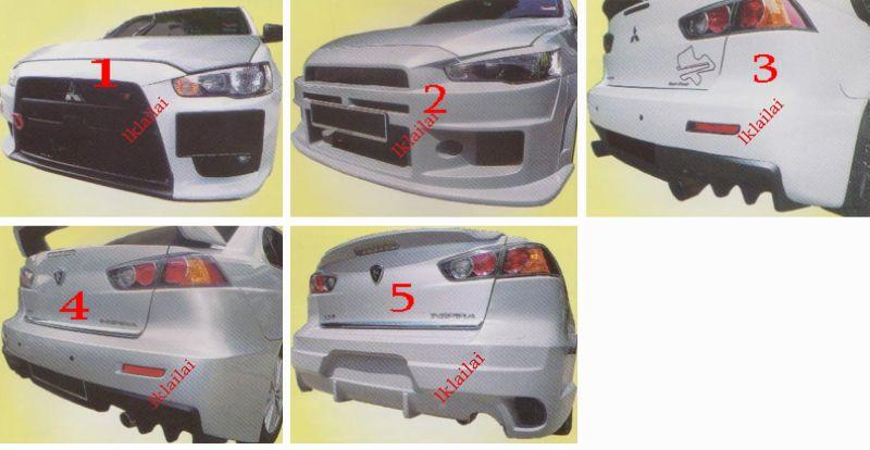 Mitsubishi Lancer Front / Rear Bumper [EVO 10 X/ING'S/BLACK ILLUSSION]