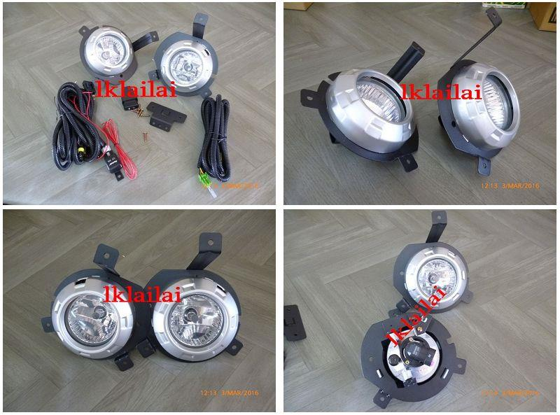 Mitsubishi Triton '06 Fog Lamp Set w Wiring + Switch