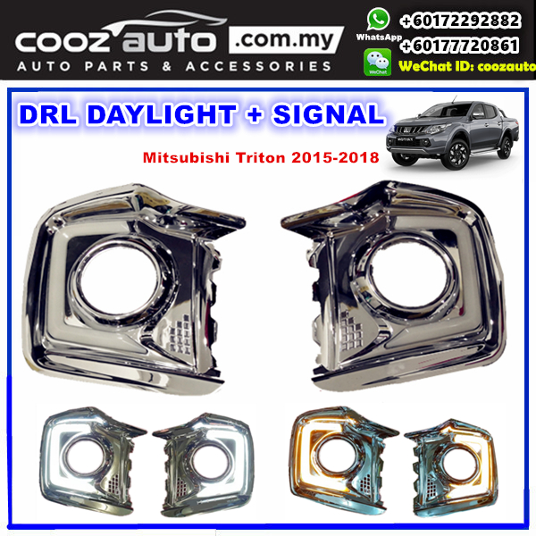 Mitsubishi Triton 2015 -2018 Daylight Daytime DRL + Signal + Fog Lamp