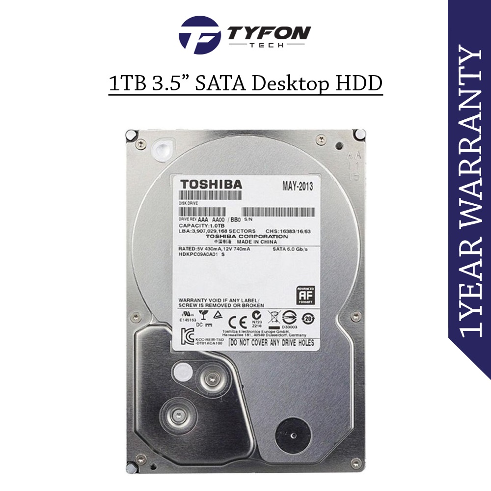 "Mix Branded 1TB 3.5 "" SATA Desktop PC Computer Hard Disk Drive HDD"