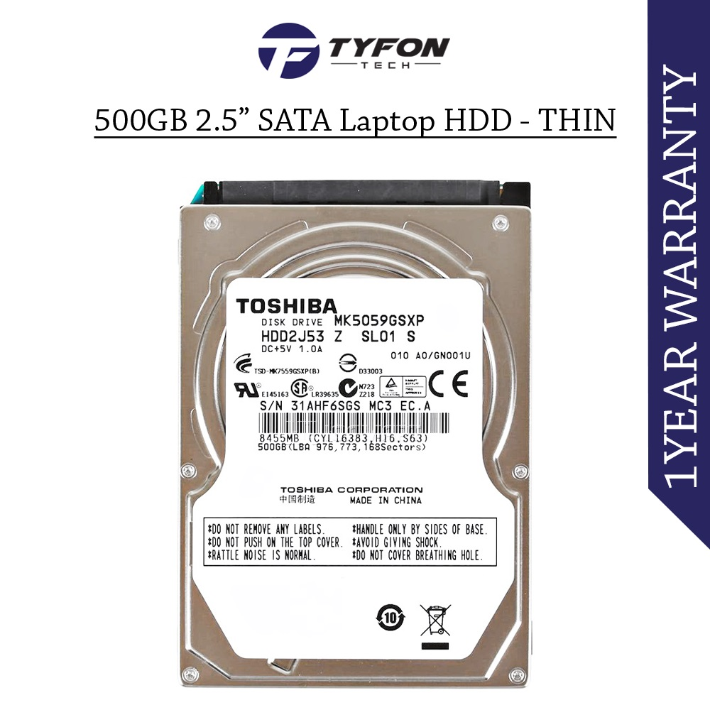 "Mix Branded 500GB 2.5 "" SATA Laptop Hard Disk Drive HDD"