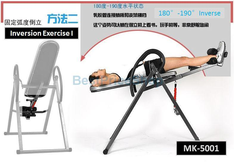MK-5001 Inversion Table - Relieve Back Pain Ease Stress Join Health