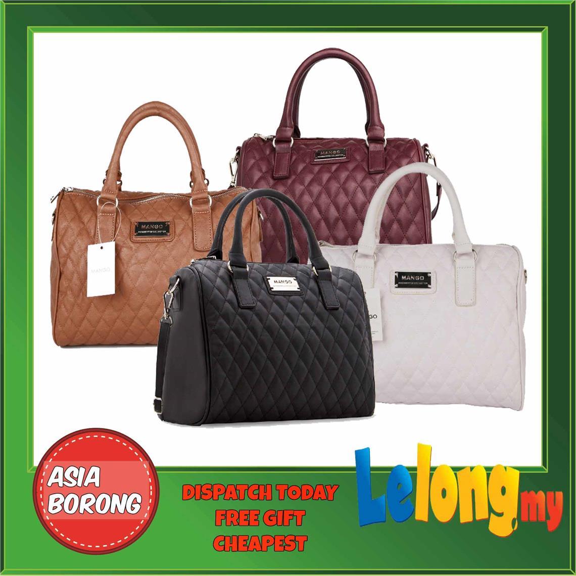 MNG MANGO Quilted BOWLING Sling Hand Bag TOTE SHOUDLER HANDBAG BAG. ‹ ›