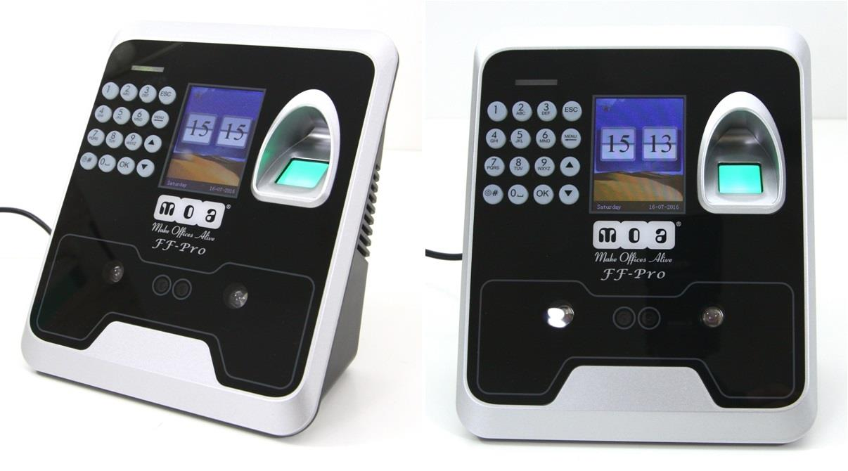 MOA Biometric Time Attendance Face Detect Finger Scan Password
