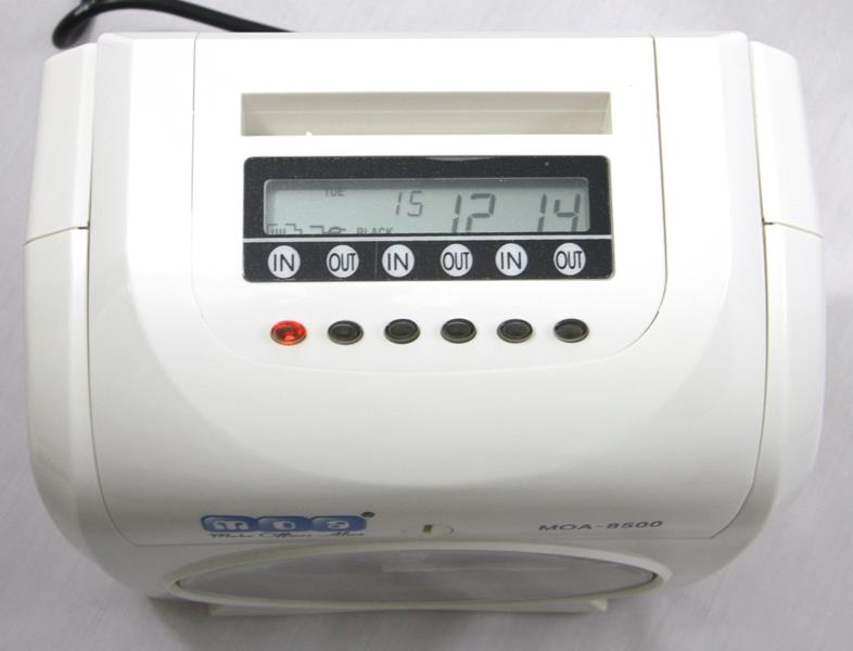 MOA Time Recorder Punch Card Machine Analog Display Amano Printing