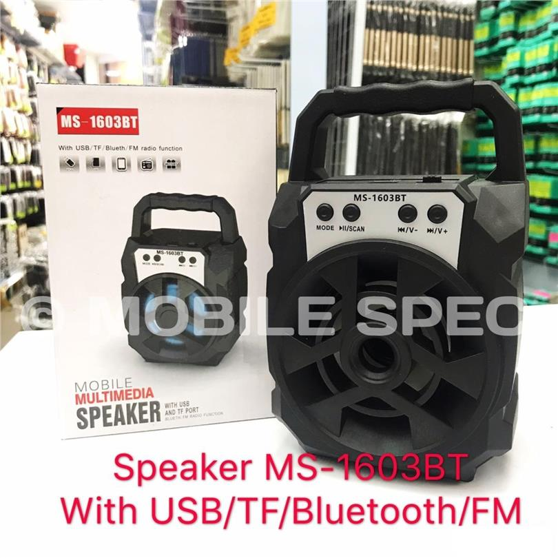 MOBILE MULTIMEDIA SPEAKER MS-1603BT WITH USB AND TF PORT BLUETOOTH FM