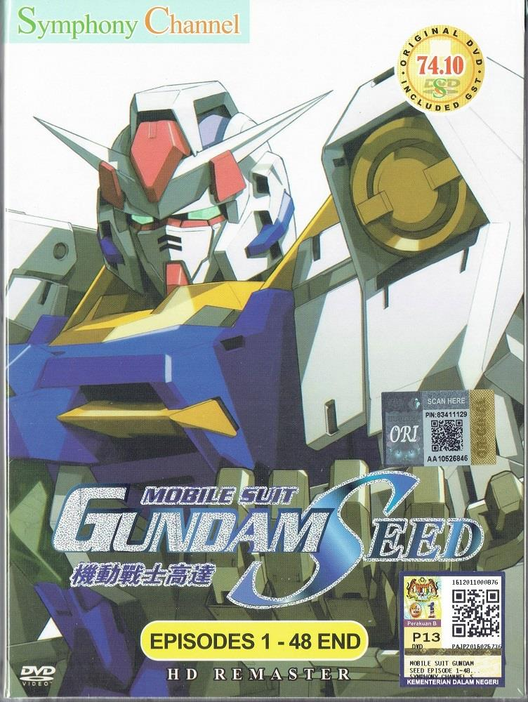 MOBILE SUIT GUNDAM SEED - COMPLETE ANIME TV SERIES (1-48 EPIS)