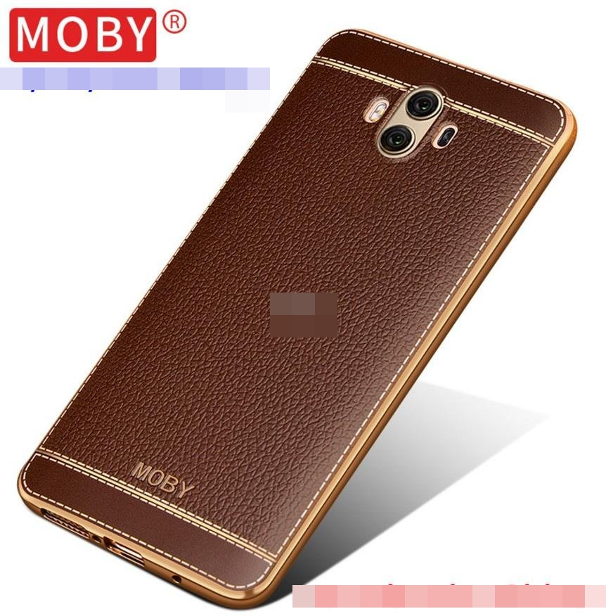 MOBY Huawei Mate 10 Mate10 Pro Leather TPU Back Case Cover Casing