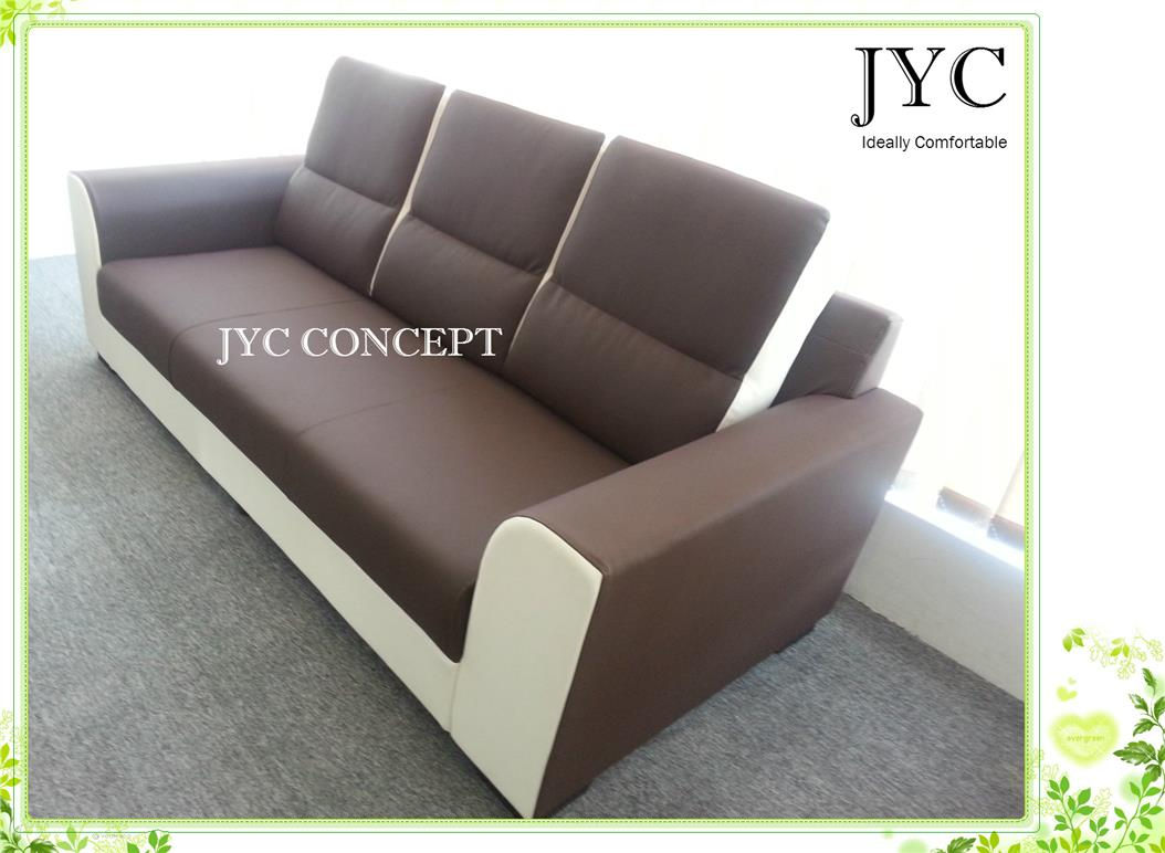 Model Lowa. 2+3 Seater Leather Sofa