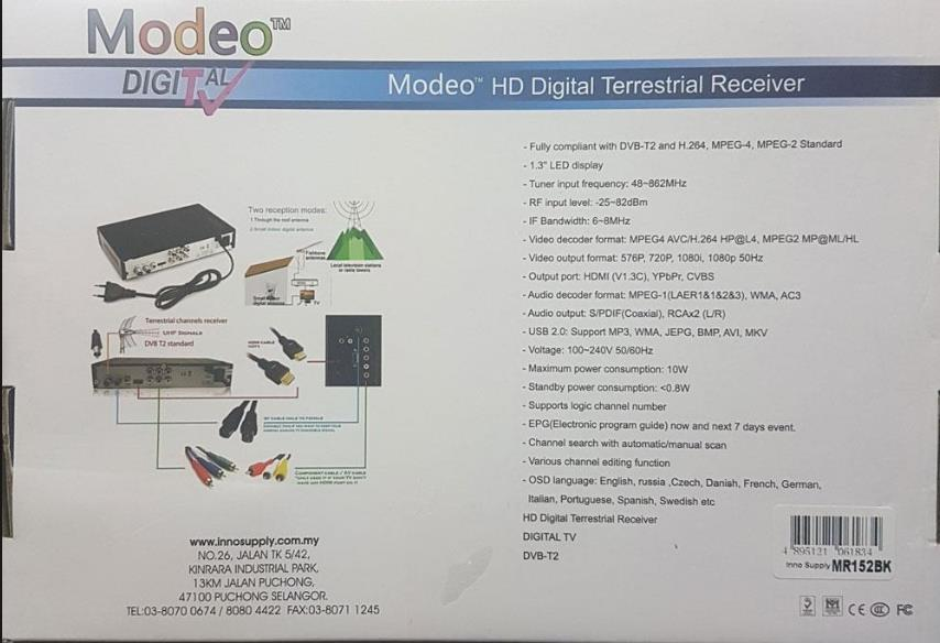 MODEO HD DIGITAL TV 1080P MR152
