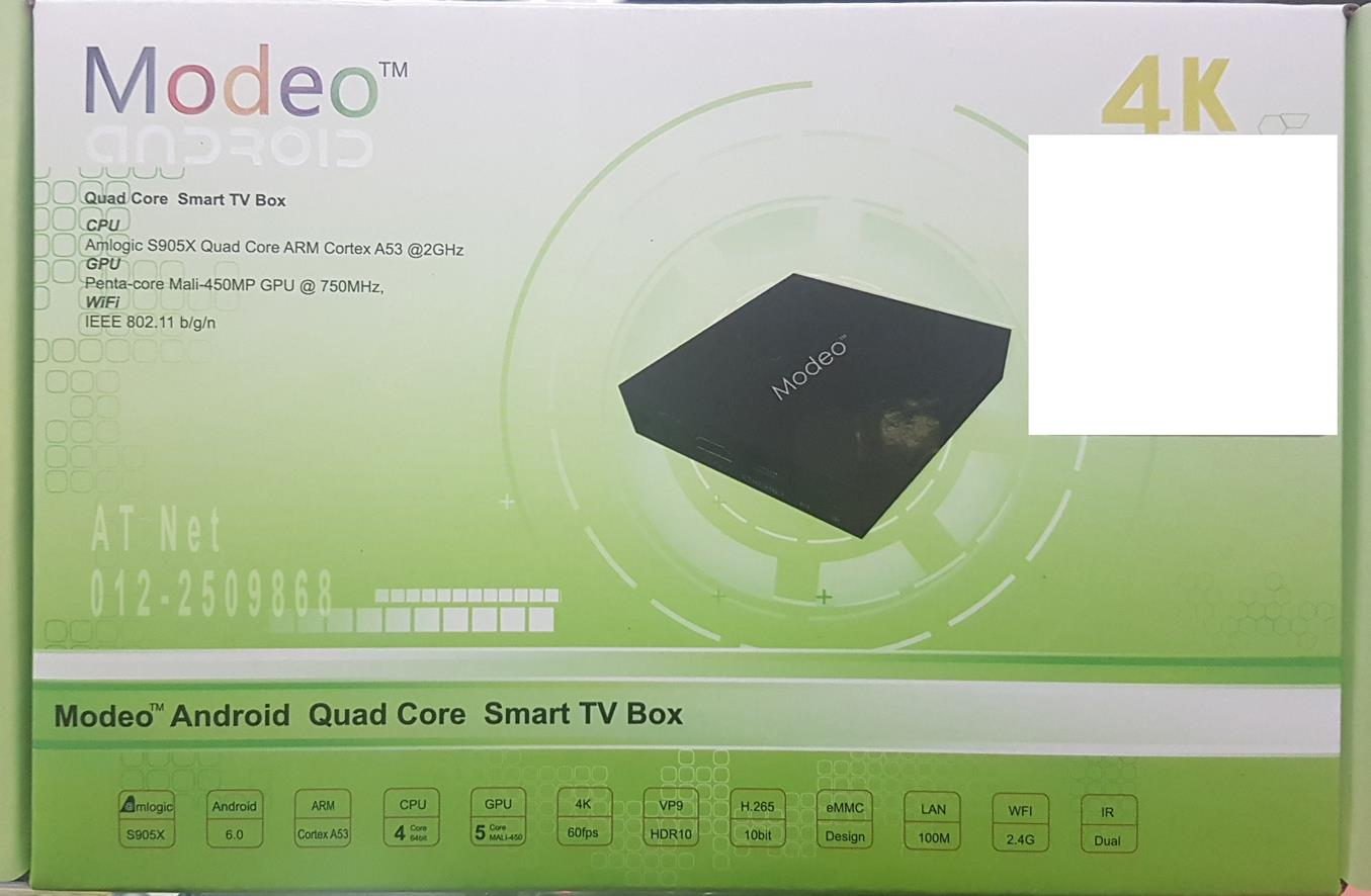 MODEO QUAD CORE 4K SMART TV BOX MR140