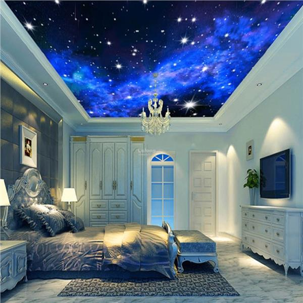 Modern 3d night clouds star wallpap end 10 4 2018 10 15 am for 3d interior wall murals