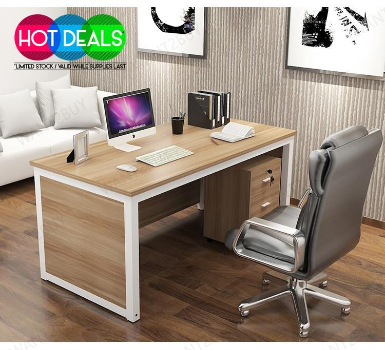 Computer Desk Pc Laptop Wood Table Home Office Study: Modern 4 Feet Wooden Office Comput (end 11/18/2020 11:15 PM
