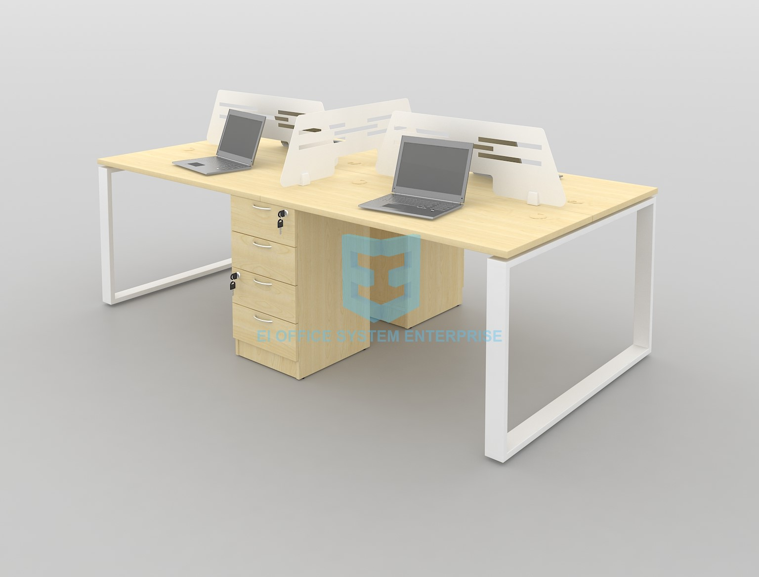 Modern Desking System / Workstation / Office Table / Office Desk 17