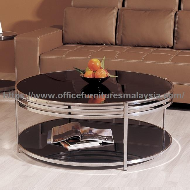 Modern Round Glass Coffee Table YGT-8765CT subang balakong Cheras KL