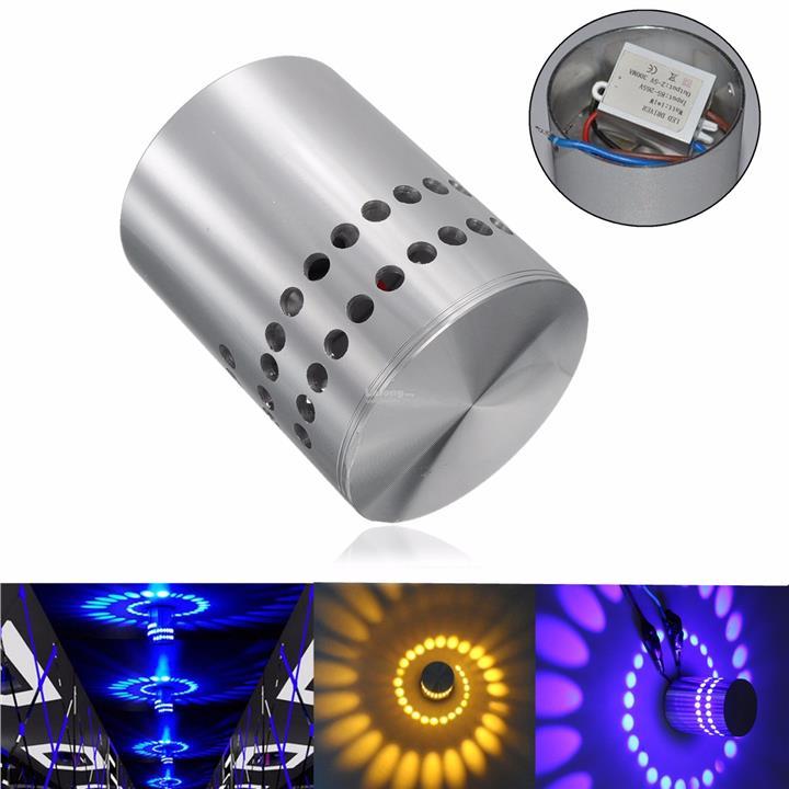 Wall Led Light Spiral High Power Sconce Disco Modern Ktv Lamp 3w Decor 8vwmnON0