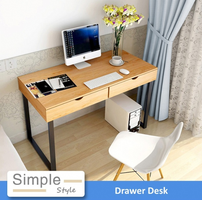 simple ikea home office. Modern Home Office Ikea Style 4ft Drawer Desk Table. \u2039 \u203a Simple