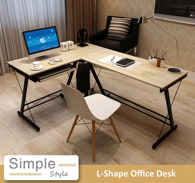 l office desk. Modern Home Office Ikea Style 4ft L-SHAPE Desk Table L