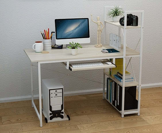 Modern home office ikea style desk ta end 542020 654 pm modern home office ikea style desk table with shelf keyboard tray map thecheapjerseys