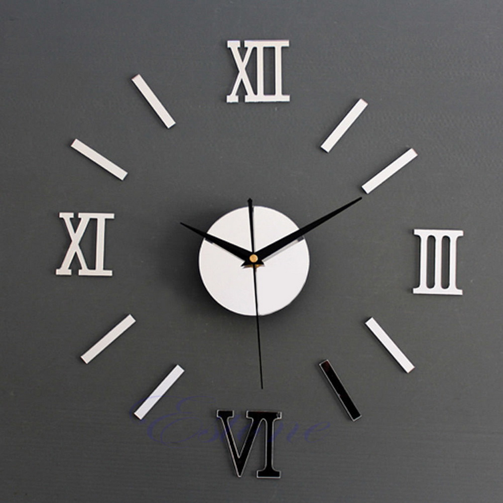 Modern large diy wall clock 3d sti end 12162018 1213 pm modern large diy wall clock 3d sticker big watch home decoration amipublicfo Choice Image