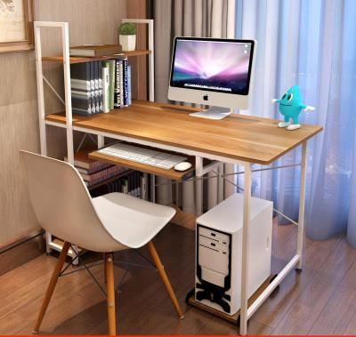 Modern Office Computer Laptop Wooden Desk Study Table With Book Shelf