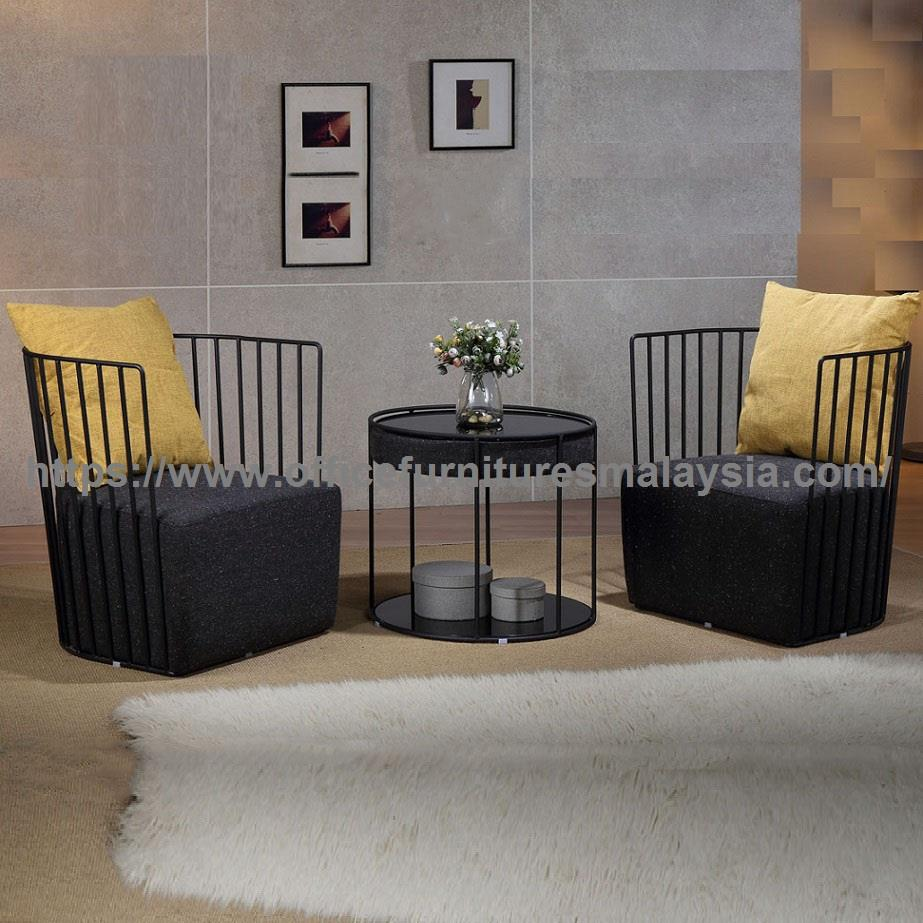Modern single seater sofa and table set ygrds 11048t11049c
