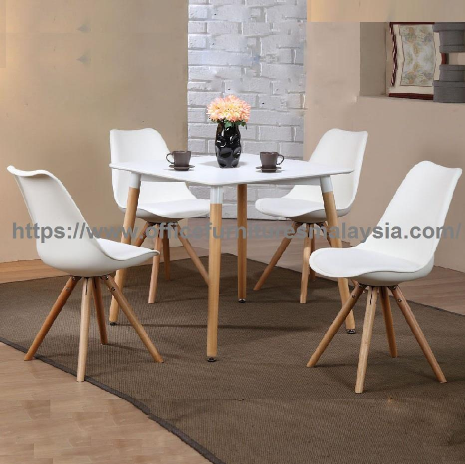 Superieur Modern Square Cafe Dining Set YGRDS 860T/W890CGY/W Balakong Cheras KL