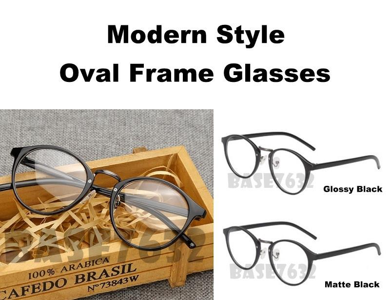 ad07882c6 Modern Style Oval Frame Eyewear Glass Glasses Lens Spec 2016.1. ‹ ›