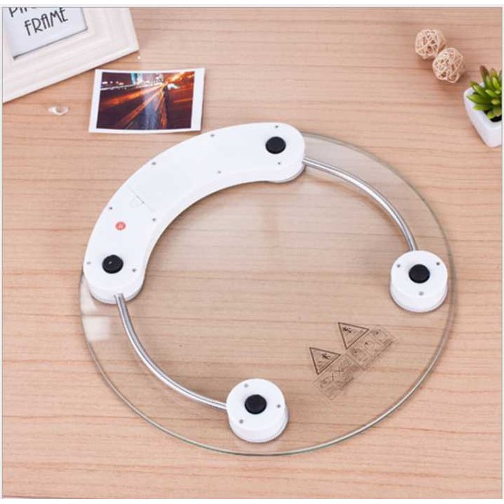 Modern Transparent Tempered Glass Digital Weighing Weight Scale (33CM)