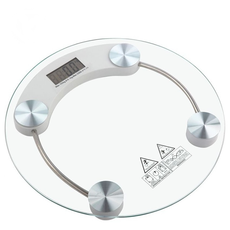 Modern Transparent Tempered Glass Digital Weighing Weight Scale