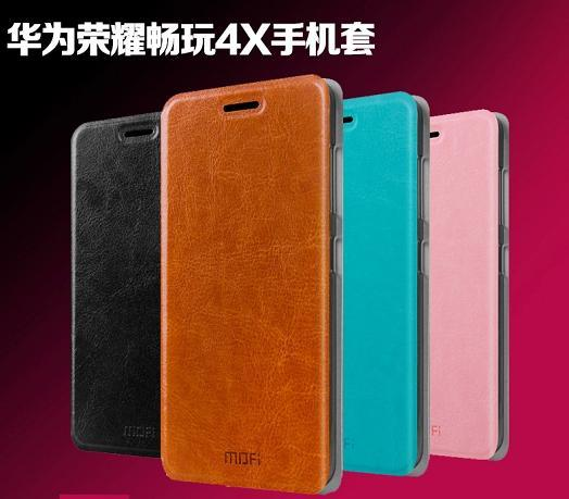 separation shoes a08d3 8817c Mofi Huawei Honor 4X PU Leather Flip Case Cover Casing + Free Gift