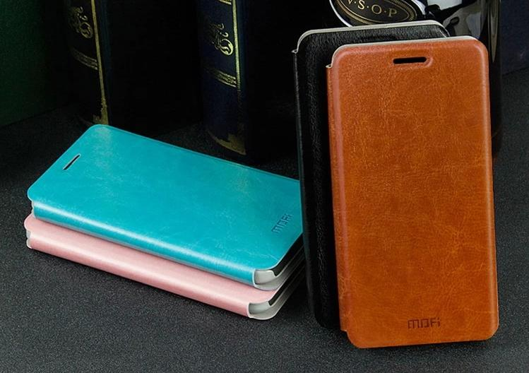 Mofi Lenovo A806 A8 PU Leather Flip Case Cover + Free Screen Protector
