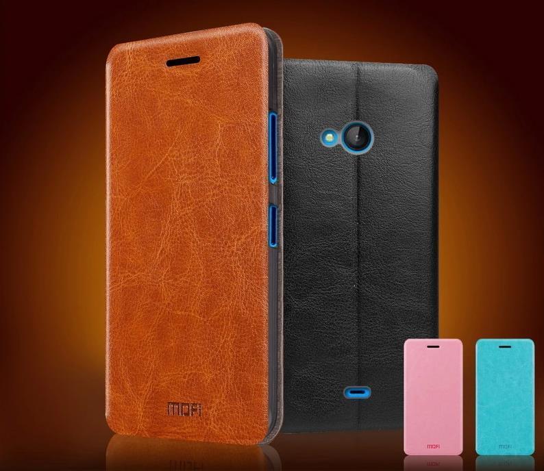 los angeles 22a54 b58f9 Mofi Microsoft Nokia Lumia 540 Flip Leather Case Cover Casing + Gift