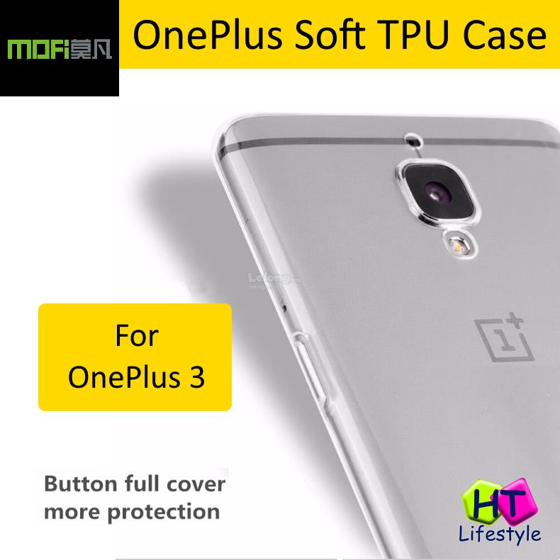 MOFI OnePlus 3T, 1+3T Crystal Clear Transparent Soft TPU Case