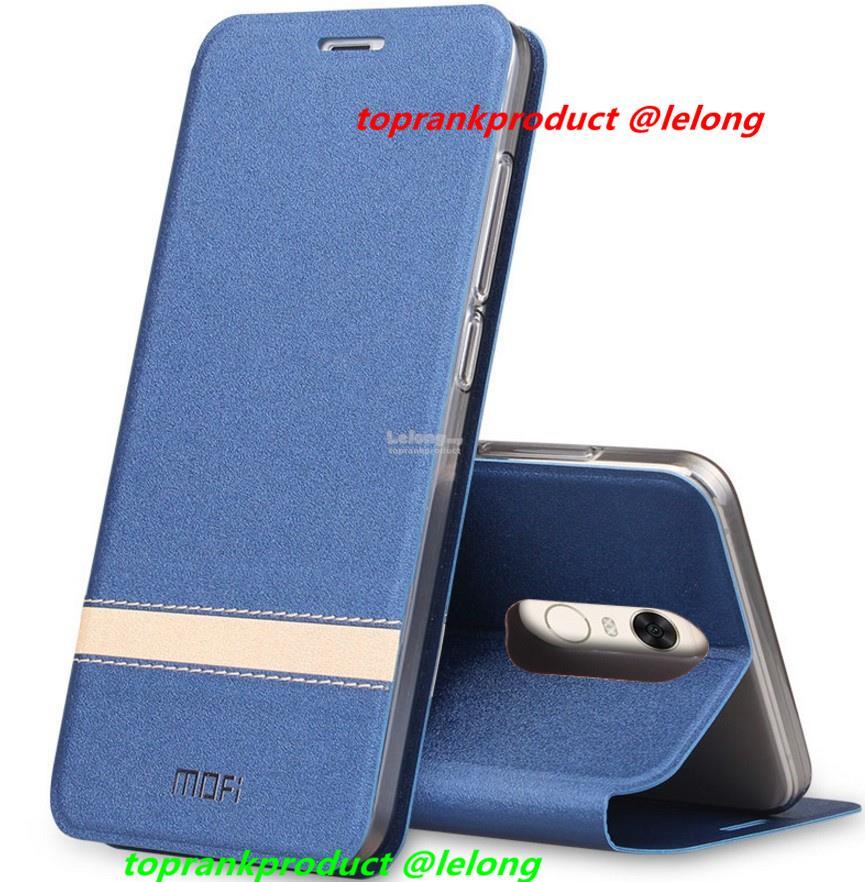 buy popular 600ce f6882 Mofi Xiaomi Redmi 5 / Plus Flip PU Leather Stand Case Cover Casing
